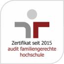 Zertifikat seit 2015 - Audit Familiengerechte Hochschule